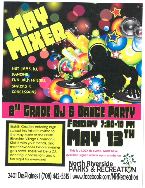 8th grade mixer flyer